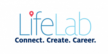 lifelab connect. create. career. graphic element