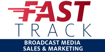 fast track broadcast media sales and marketing graphic element